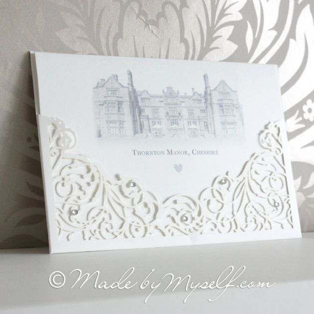 Venue Lasercut Evening Invitation